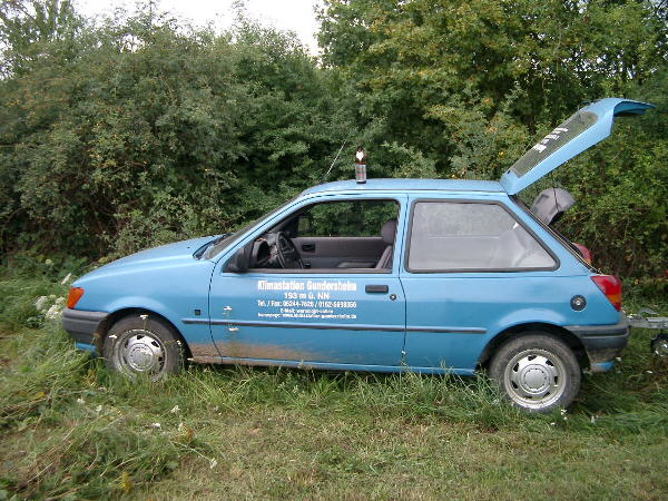 "Our ""blue runner"". A very faithful reliable car."
